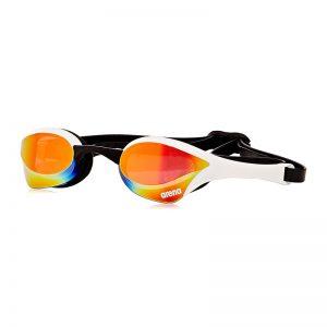 عینک شنا آرنا سری Racing مدل Cobra Ultra Mirror سفید Arena Racing Cobra Ultra Mirror White Swimming Goggles