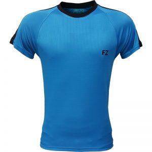 جدیدترین مدلهای انواع تیشرت ورزشی آستین کوتاه فورزا مدل سرشانه خطدار آبیروشن با بهترین قیمت