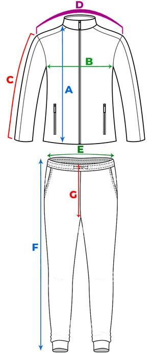 راهنمای انتخاب سایز گرمکن و شلوار ورزشی