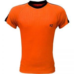 جدیدترین مدلهای انواع تیشرت ورزشی آستین کوتاه فورزا مدل سرشانه خطدار نارنجی با بهترین قیمت