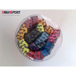 تصویر گریپ بدمینتون viotco نواردار رنگی بسته 30 عددی چریکی