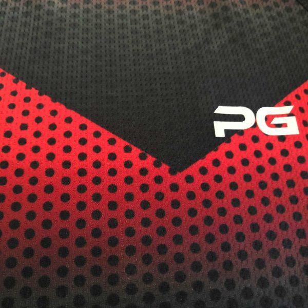 تیشرت پرگان مدل PG-T105 مشکی-قرمز
